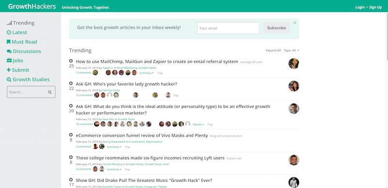 GrowthHackers   A Community for Growth Focused Marketers
