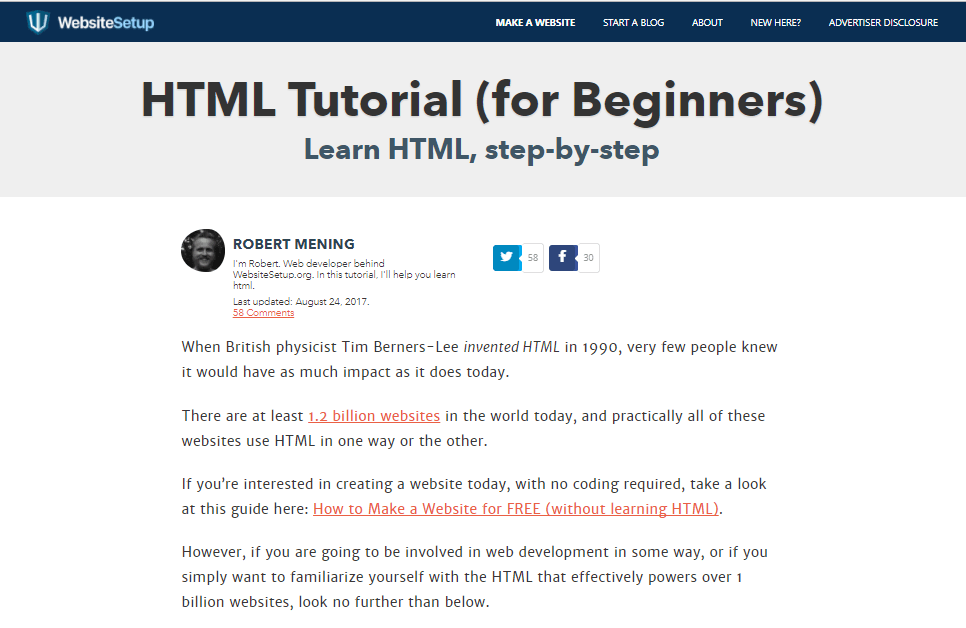 HTML Tutorial (for Beginners)
