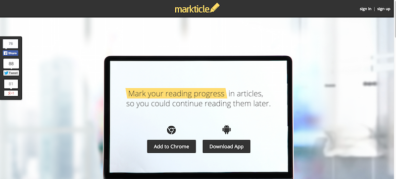 Markticle   Read  mark  and share articles