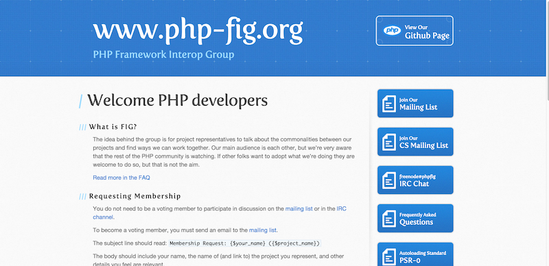 PHP FIG — PHP Framework Interop Group