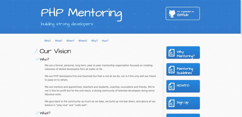 PHP Mentoring Vision