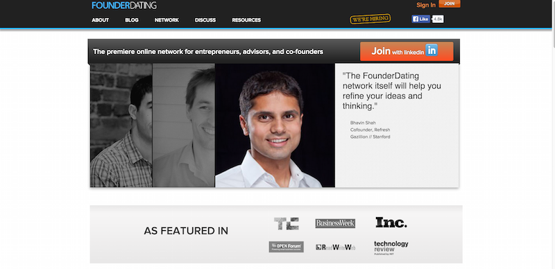 Premiere network to connect with entrepreneurs  advisors  and cofounders   FounderDating