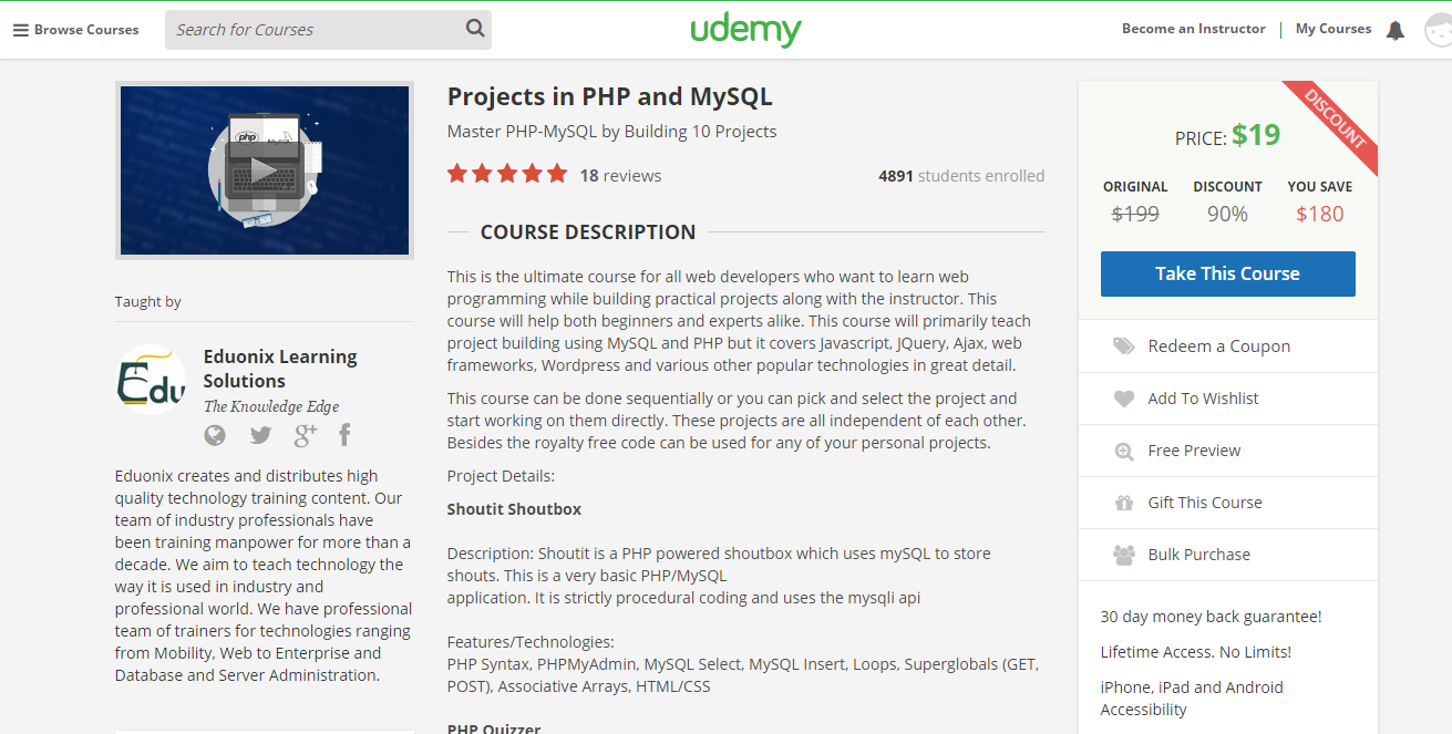 Project in PHP