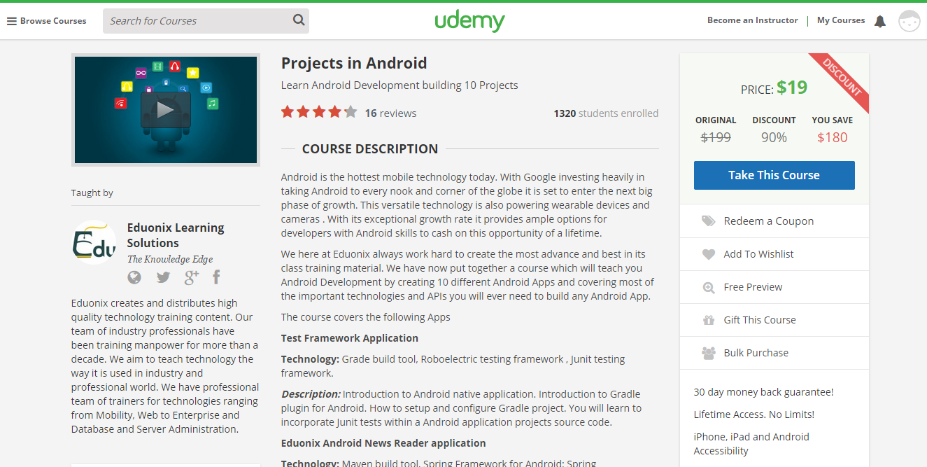 Projects in Android