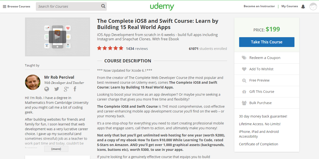 Rob ios 8 and swift course