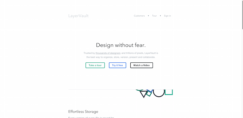 Simple version control for designers LayerVault