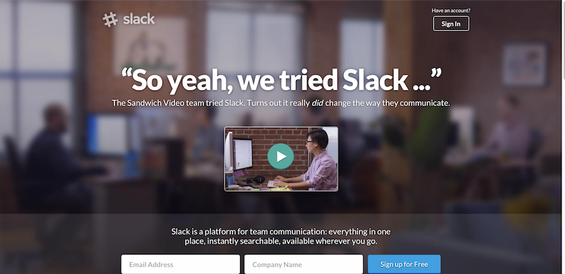 Slack  Be less busy