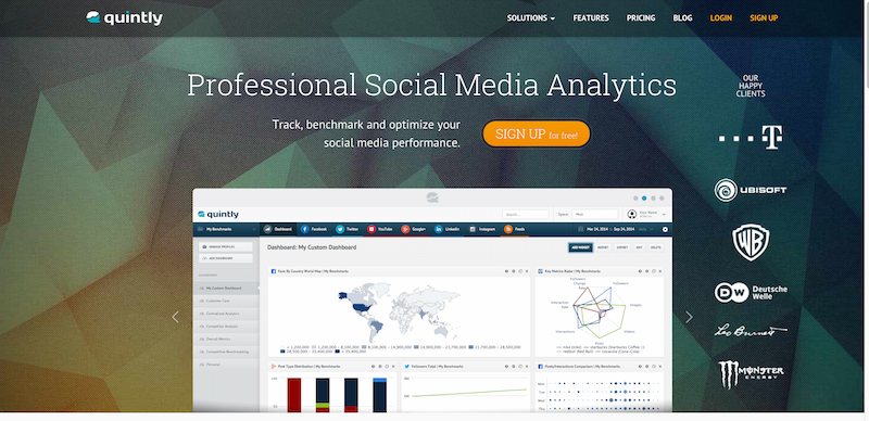 Social Media Analytics   Competitor Benchmarking   quintly