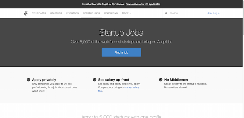 Startup Jobs   AngelList