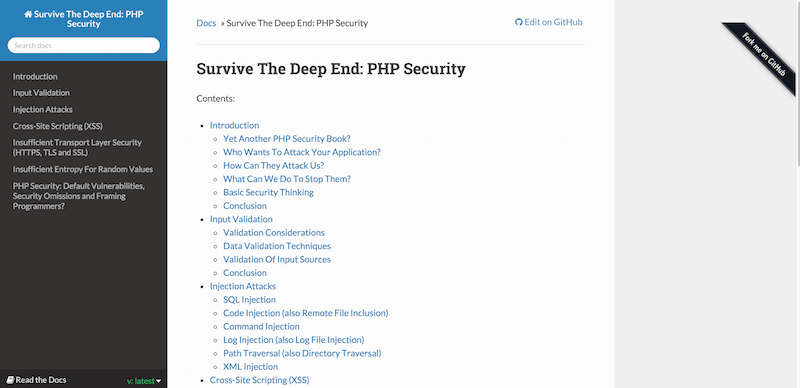 Survive The Deep End PHP Security — Survive The Deep End PHP Security v1.0a1