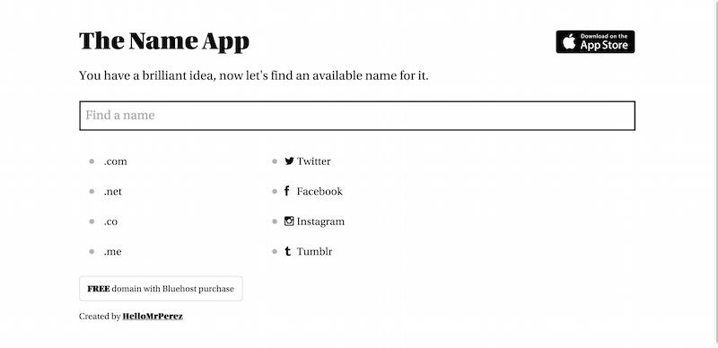 The Name App Domain Social Media Name Finder