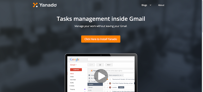 Yanado   Task management inside Gmail.