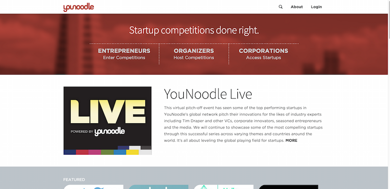 YouNoodle   Helping startups grow through competitions