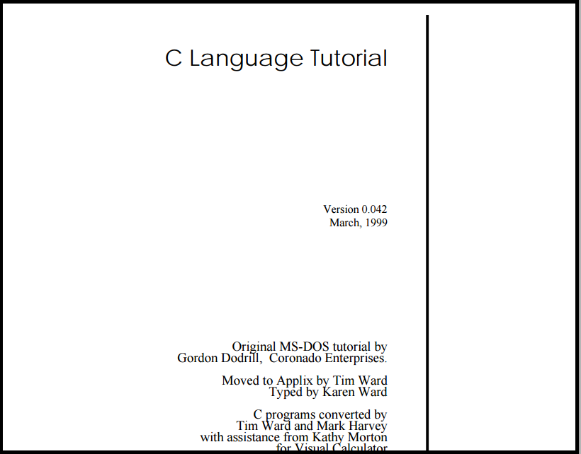 C Language Tutorial by ntnu