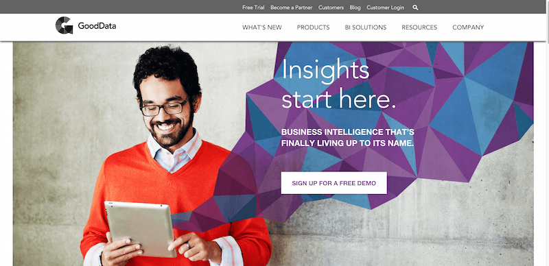 GoodData SaaS Business Intelligence Analytics
