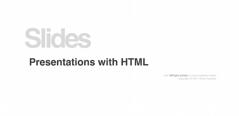 HTML Slide Presentation Framework