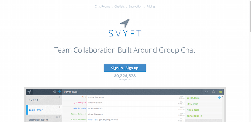 SVYFT Team Collaboration Built Around Group Chat.