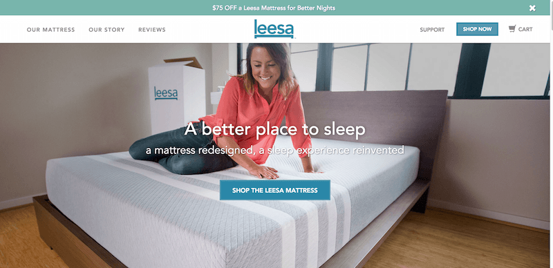 A Better Place to Sleep. Try risk free for 100 nights Leesa