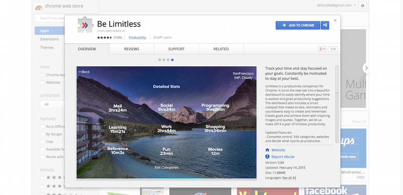 Be Limitless   Chrome Web Store