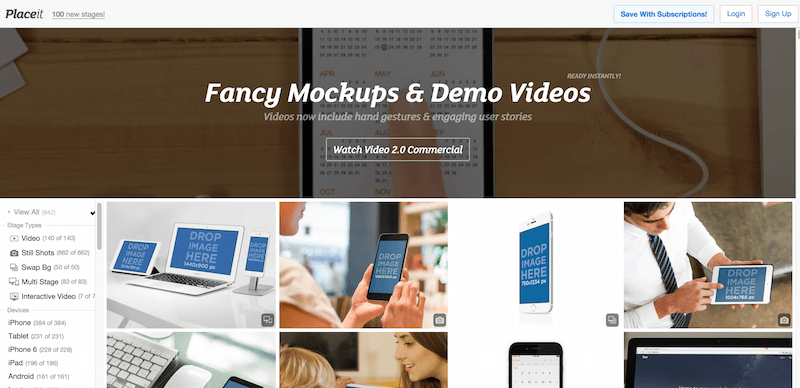 Fancy iPhone Mockups App Demo Videos by Placeit