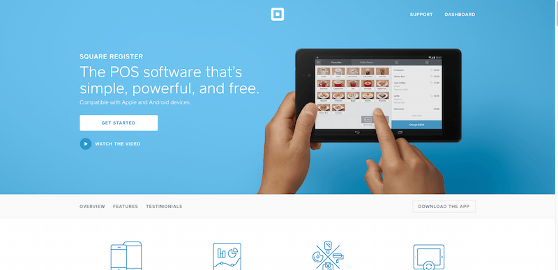 Free POS Software Square Register - Web Development
