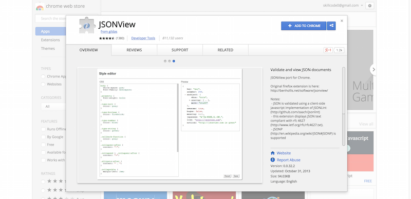 JSONView Chrome Web Store