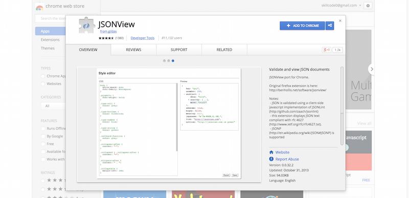 JSONView   Chrome Web Store
