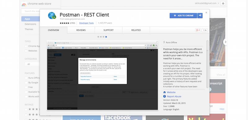Postman   REST Client   Chrome Web Store