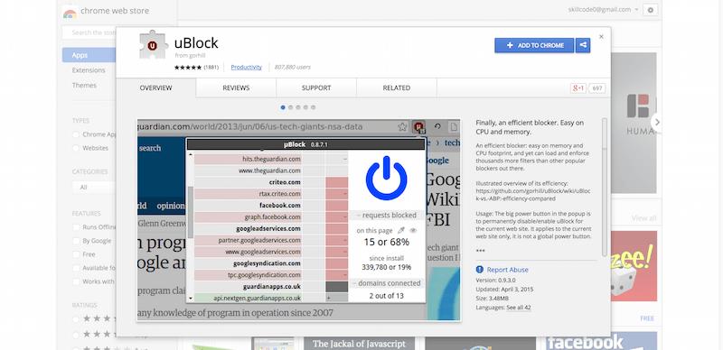 uBlock   Chrome Web Store