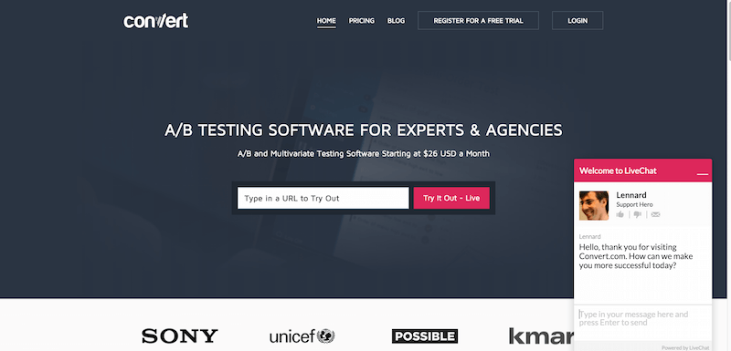 A B Testing Software A B Testing Tools by Convert.com