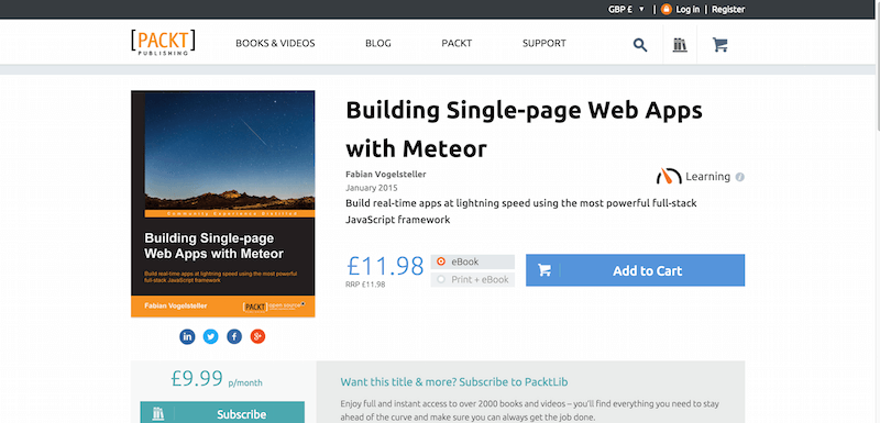 Building Single page Web Apps with Meteor PACKT Books