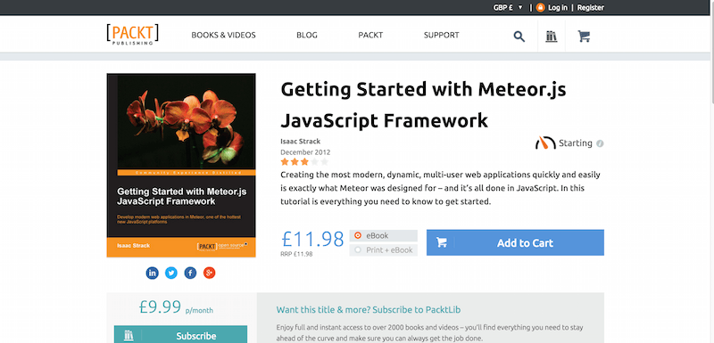 Getting Started with Meteor.js JavaScript Framework PACKT Books