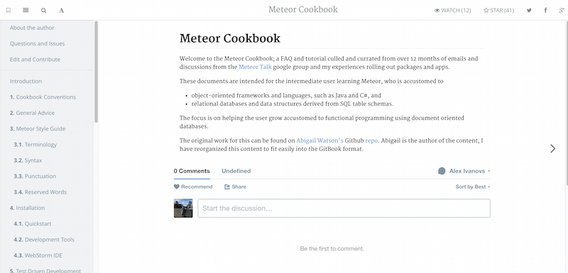 Introduction Meteor Cookbook