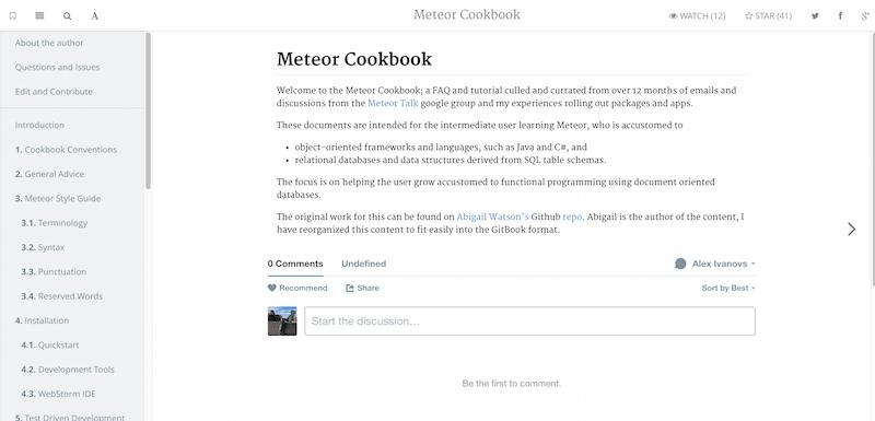 Introduction Meteor Cookbook