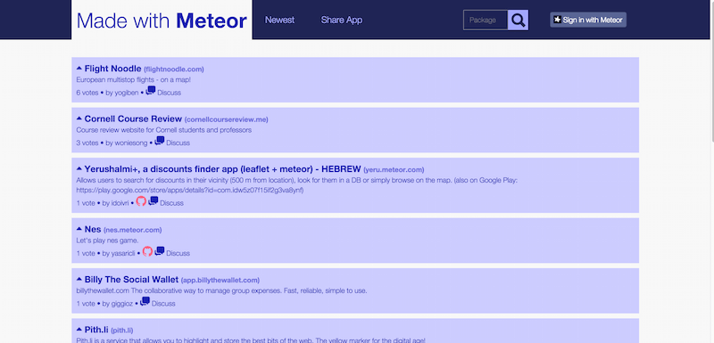 Made with Meteor Show HN for Meteor apps