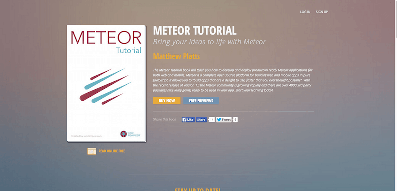 Meteor Tutorial Bring your ideas to life with Meteor Matthew Platts Softcover.io