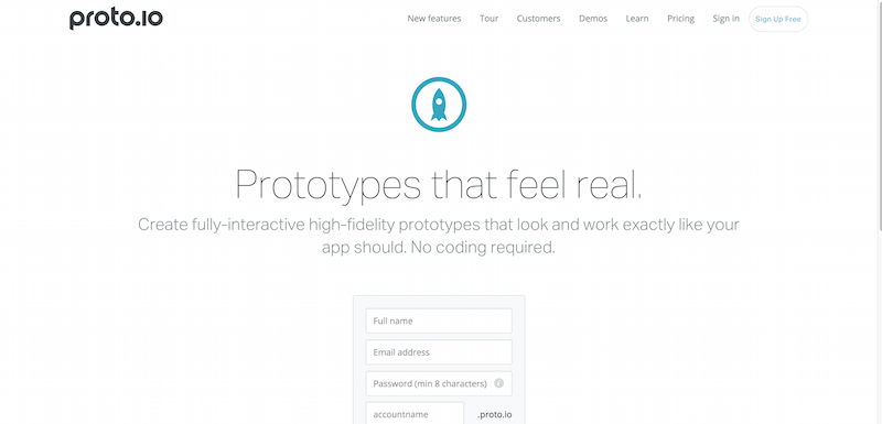 Proto.io Prototypes that feel real
