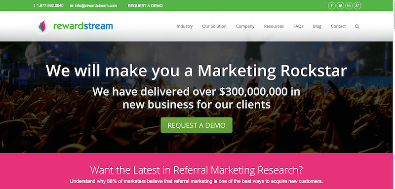 RewardStream Referral Marketing Programs