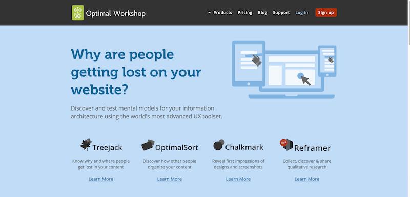 User Experience Testing Tools Optimal Workshop