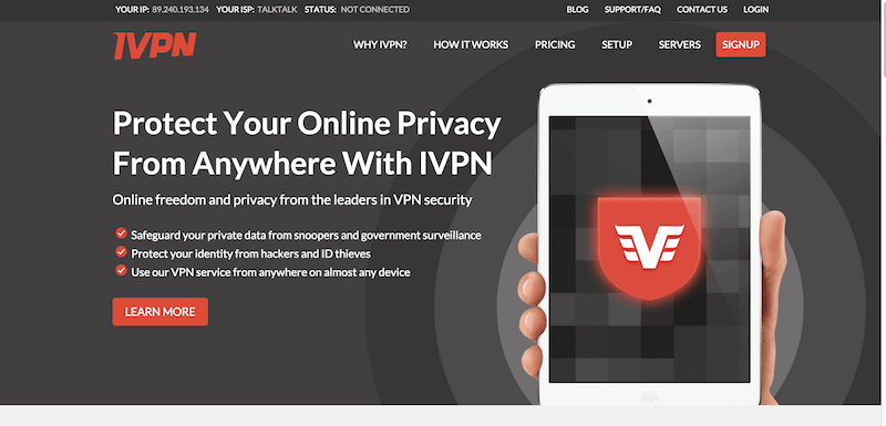 VPN Service   Fast  Anonymous Browsing From IVPN