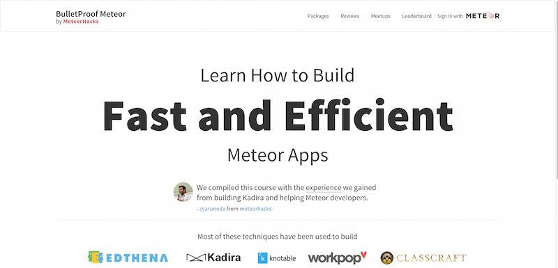 build Fast Efficient Meteor apps BulletProof Meteor