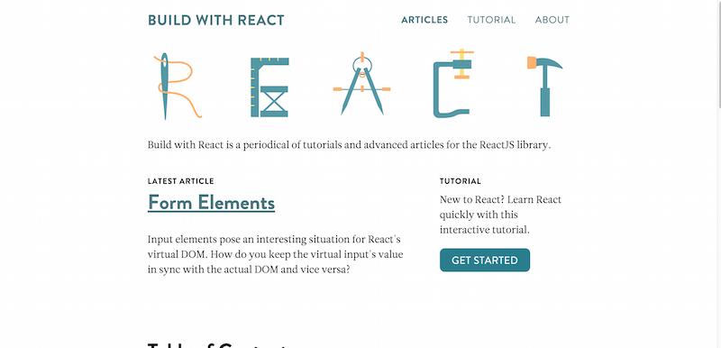 Build with React JS