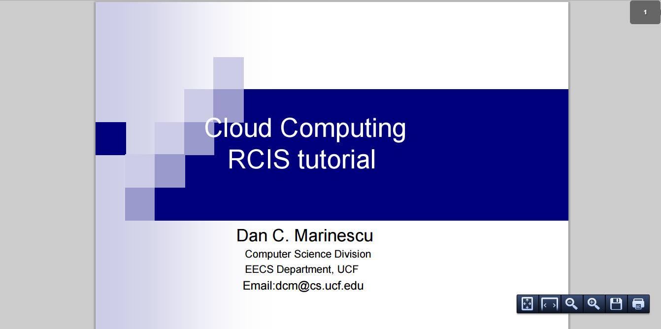 Cloud Computing RCIS tutorial