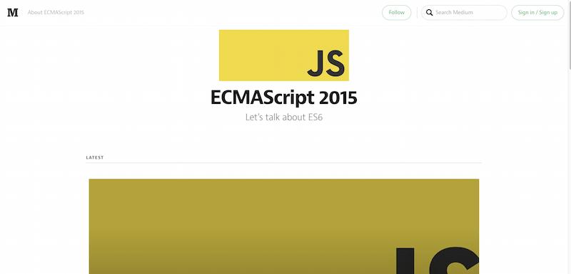 ECMAScript 2015 — Medium