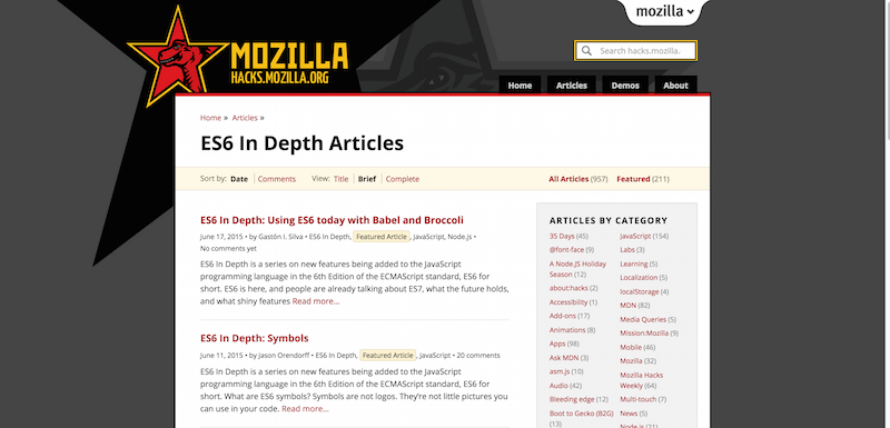 ES6 In Depth Articles ✩ Mozilla Hacks – the Web developer blog