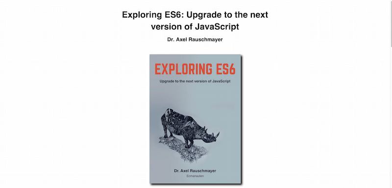 Exploring ES6  Upgrade to the next version of JavaScript