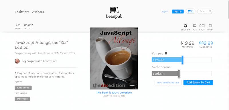 """JavaScript… by Reg """"raganwald"""" Braithwaite PDF iPad Kindle"""