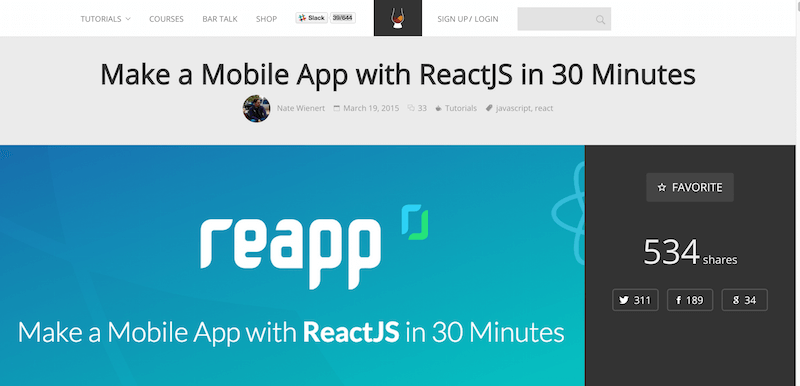 Make a Mobile App with ReactJS in 30 Minutes   Scotch
