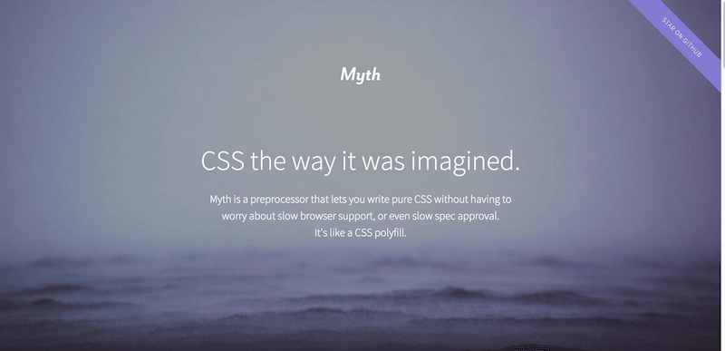 Myth   CSS the way it was imagined.