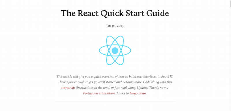 The React Quick Start Guide